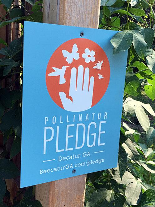 Decatur Pollinator Pledge Sign