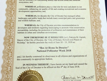 National Pollinator Week 2018 Is Here - And So Are Mosquitoes!