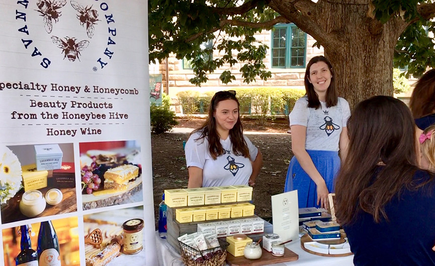 Savannah Bee Company's festival booth