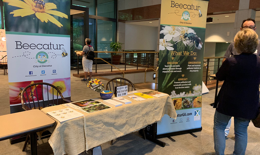 Beecatur's table at the Xerces Society's Urban Pollinator Workshop