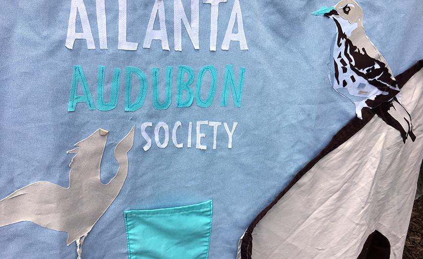 Atlanta Audubon Society's beautiful booth banner