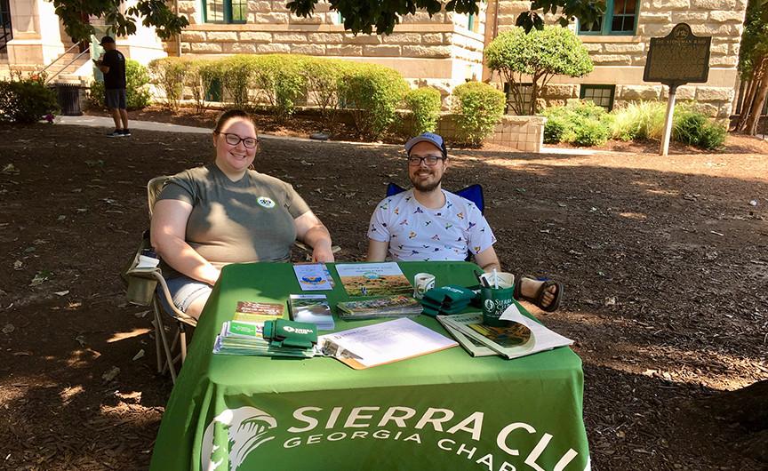 Sierra Club's festival booth
