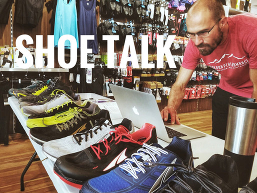RUNNING SHOE TALK