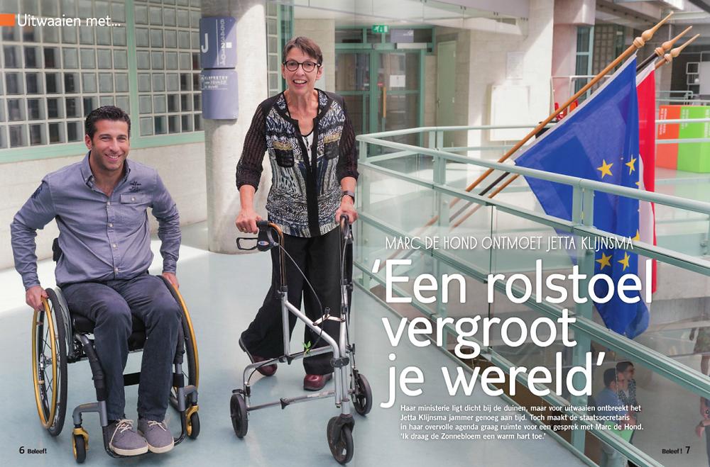 Marc de Hond en Jetta Kleinsma in Beleef Magazine