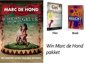Marc's boek, zijn film over Giel Beelen & twee kaartjes voor zijn voorstelling.
