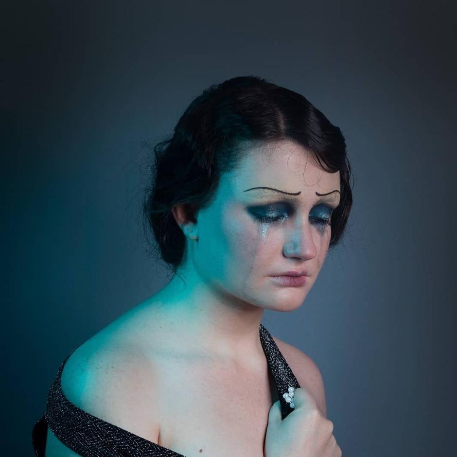 Flapper inspired look, Makeup artist & Model: Katrina Battershill. Hair and Photography: Shealyn Caulfield