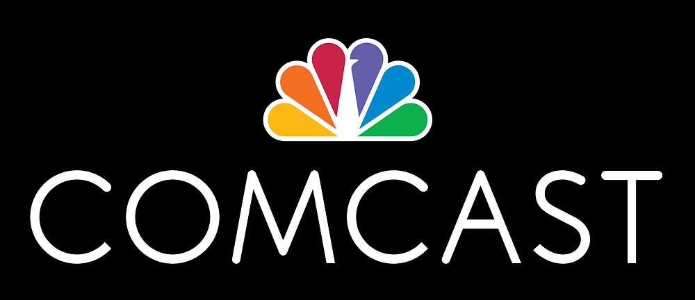 Comcast logo on black background