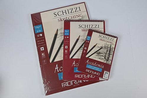 Schizzi sketching Block für Bleistiftzeichnungen