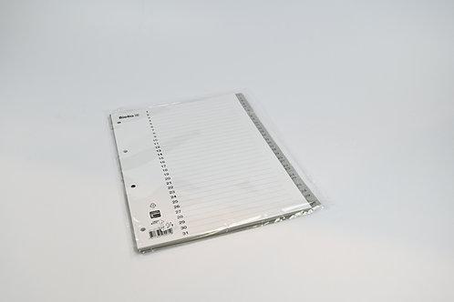 Ordner Register mit Zahlen