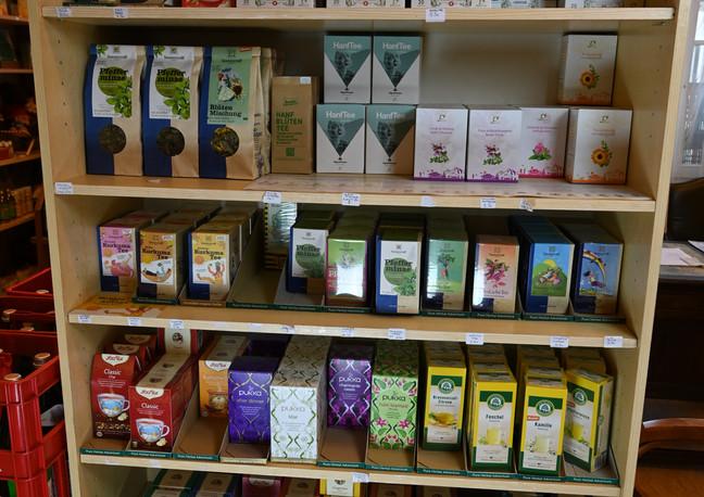 Verschiedene Tee Sorten