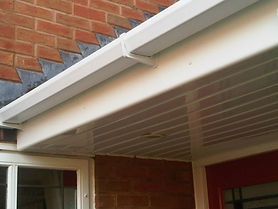 Facia gutter cleaning