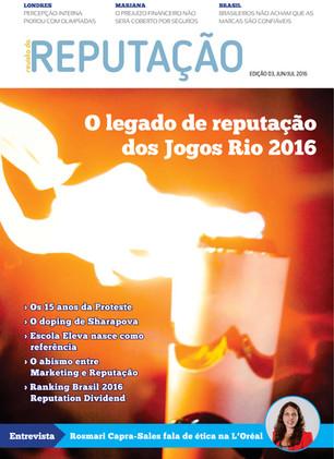 Edição 3 da Revista da Reputação foca no legado de Rio 2016