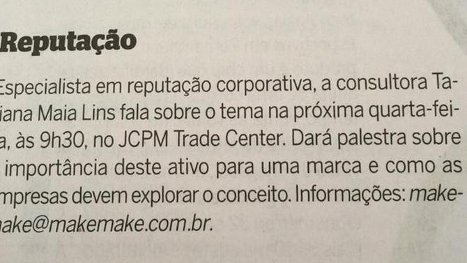 """""""COMO USAR A REPUTAÇÃO PARA VENCER EM TEMPOS DE CRISE"""" – RECIFE, 22/07/2015"""