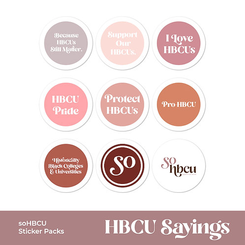 HBCU Sayings | Sticker Pack