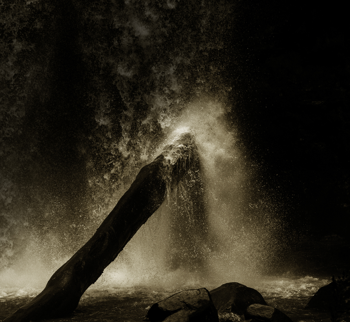 Hopetoun Falls in Sepia