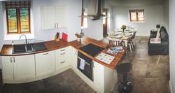 Dining kitchen to private garden