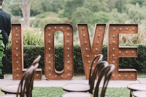 Timber Light Up LOVE Letters