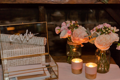 Blush & Gold Tea Light Holders