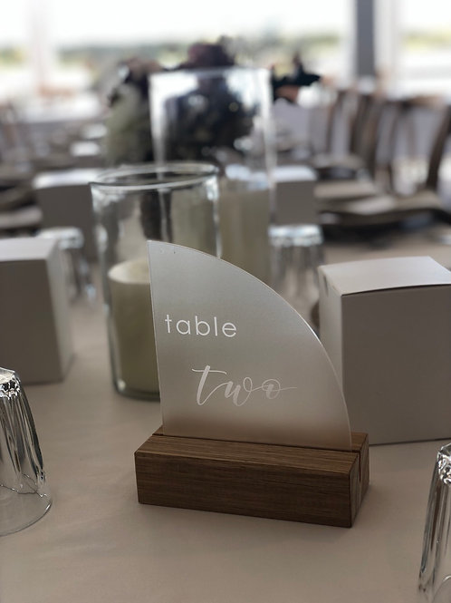 Table numbers - frosted acrylic