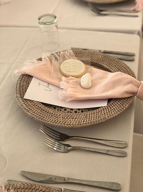 Napkins - blush/ pink linen