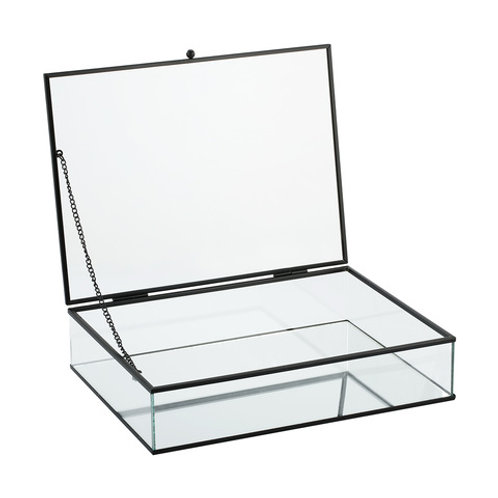 Black framed glass wishing well box