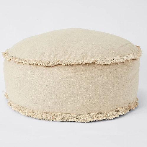 Natural tassel large floor cushion