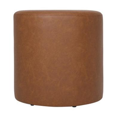Tan Leather Ottoman