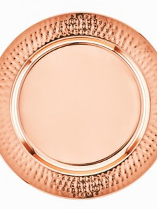 Copper / Rose Gold Hammered Charger Plates