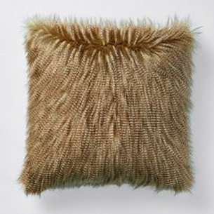 Feather Faux Fur Cushion