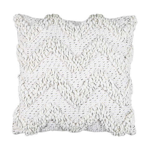 Cushions - white boho with black specs