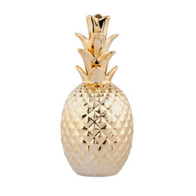 Small Gold Ceramic Pineapples