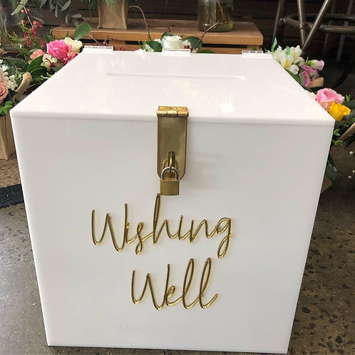 White Acrylic Wishing Well / Card Box