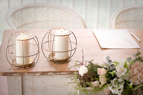 Brass Spere Candle Holder
