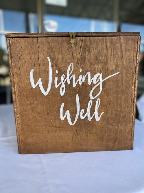 Timber wishing well card box