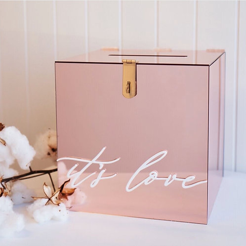 Rose Gold Acrylic Wishing Well / Card Box
