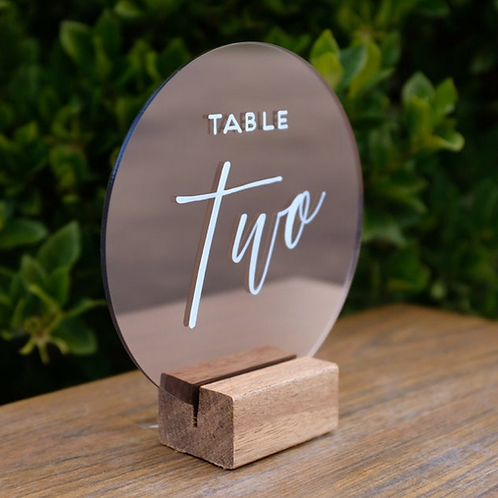 Acrylic Table Numbers - Rose Gold