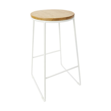 White and Natural Stool