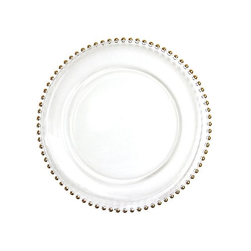 Gold Bead Charger Plates