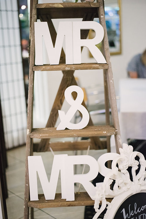Mr & Mrs White Timber Letters