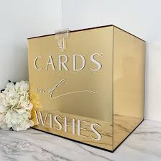 Gold Acrylic Wishing Well / Card Box