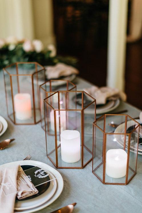 Copper/ Rose Gold Hurricanes - Set of 2