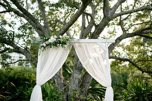 White Timber Arbour