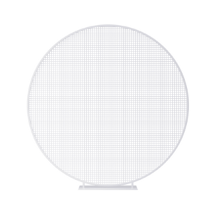 White Mesh Circle Backdrop