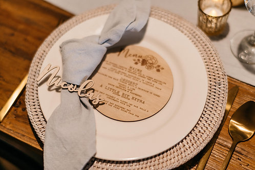 Pale Grey/Blue Linen Napkins