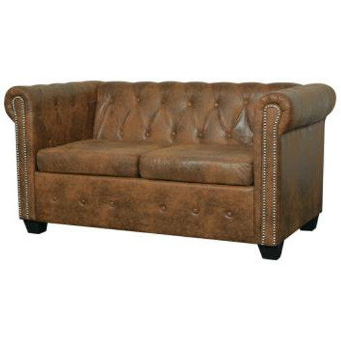 Leather Chesterfield - 3 seater