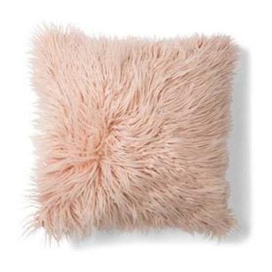 Blush Faux Fur Cusion