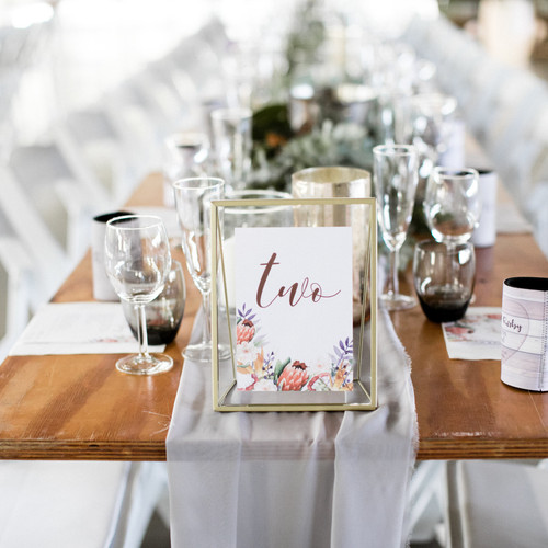 Event Hire Brisbane | Hendra | Borrowed Event Hire | table numbers