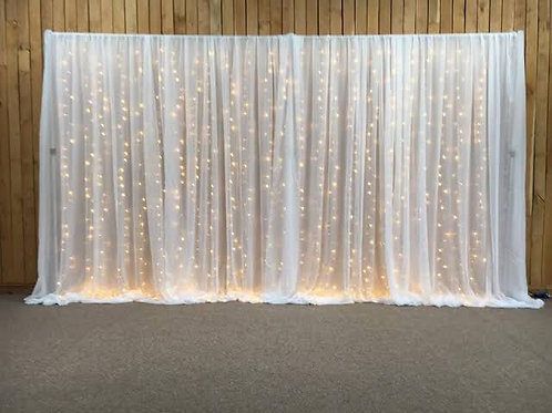 Fairy light curtain backdrop 3m