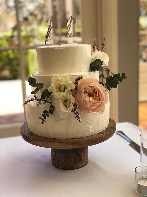 Timber cake stand