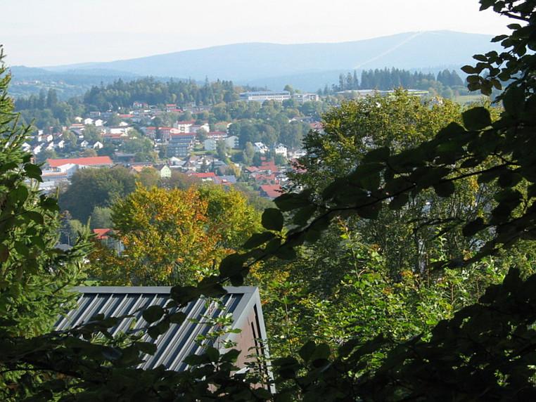 Blick vom Balkon aufs Städtle